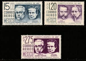MEXICO C236-C237A, 1950 Definitive 2nd Printing wmk 300 MINT, NH (168)
