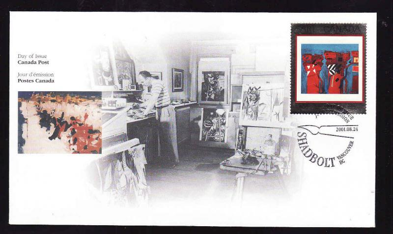 Canada-Sc#1916-stamp on FDC-Canadian Art-2001-