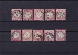 german empire 1872 used good postmark stamps cat £100+ ref r13973