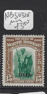 NORTH BORNEO  (PP1307B)   15C  BMA  SG 318   MOG
