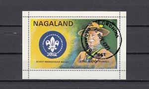 Nagaland, 1971 India Local. Scouting s/sheet. Canceled.