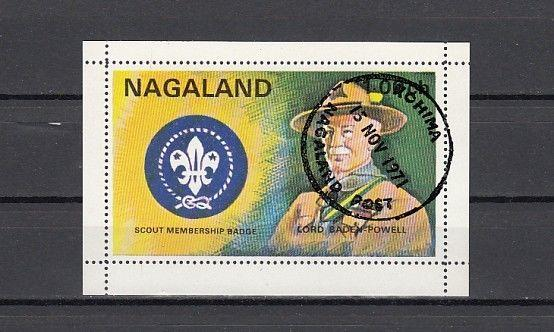 Nagaland, India Local 1971 issue. Scouting s/sheet. Canceled