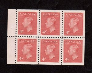Canada #287b Very Fine Never Hinged Booklet Pane