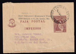 Argentina Stamp STAMPED LETTER TO USA