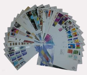 Netherlands 2006 Complete Year Set of 25 unaddressed First Day Covers FDC
