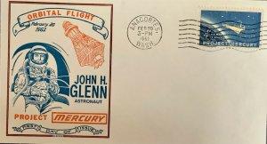 Top Secret Stamp 1193 John Glenn Project Mercury Rare Anacortes Washington CXL