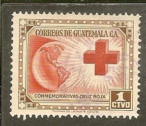 Guatemala Scott 360   Globe & Red Cross   Used