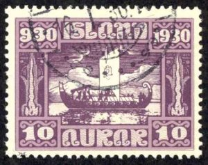 Iceland Sc# 155 Used 1930 10a Definitives