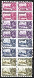 Doyle's_Stamps: Scott #226** to #229** Newfoundland Silver Jubilee Blocks Set
