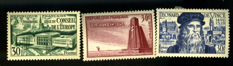 France #679 680 682 MINT VF OG HR CAt$18.50
