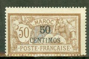 B: French Morocco 20 mint CV $67.50