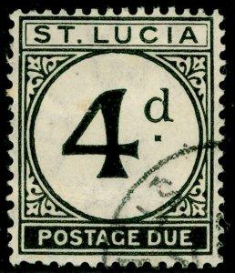 ST. LUCIA SGD5, 4d black, FINE USED. Cat £55.