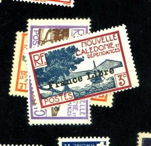 New CCaledonia #219-220,222 MINT F-VF OG NH Cat$40.50