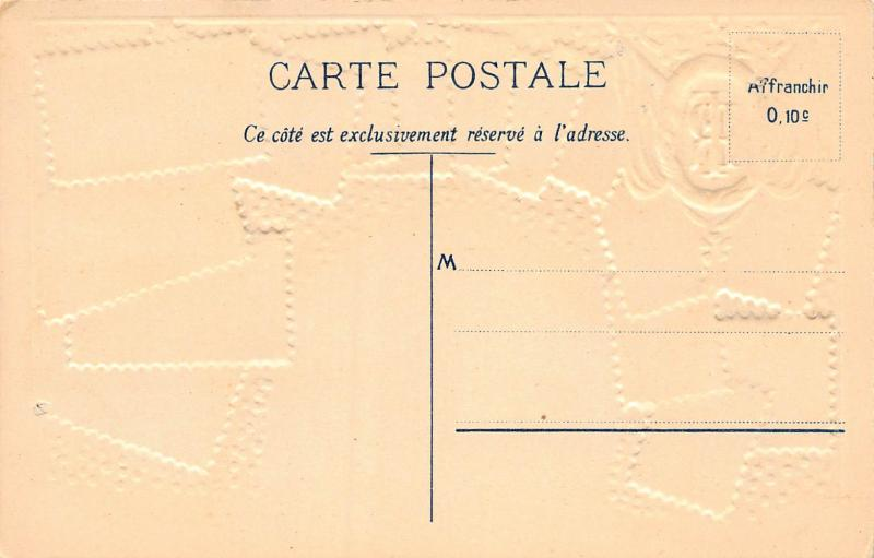 France, Stamp Postcard, #19, Published by Ottmar Zieher, Circa 1905-10, Unused