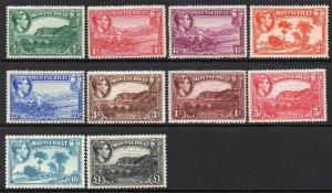 Montserrat 1938 KGVI p/set (10v. inc £1) mint CV £100 see description