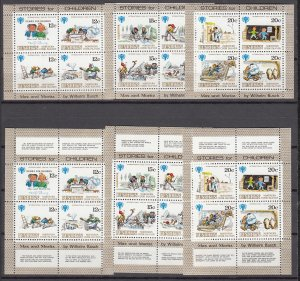 Z2986 1979 penrhyn island mnh set s/s #111-13 + sheets with full lables