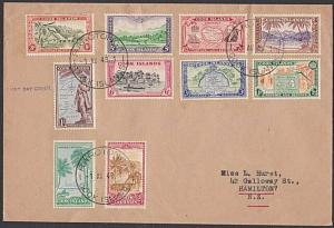 COOK IS 1949 Definitive set on FDC, ex Rarotonga...........................27879