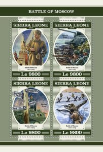 Sierra Leone Military Stamps 2018 MNH WWII WW2 Battle of Moscow Tanks 4v M/S
