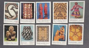 US 2004 Art of American Indians set of 10 designs USED 3873