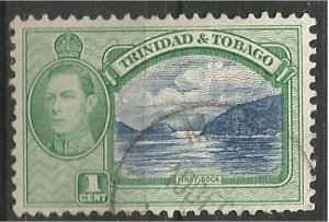 TRINIDAD AND TOBAGO, 1938, used 1p, George VI  Scott 50