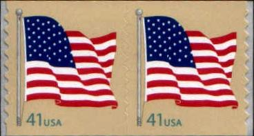 Scott 4186 Flag 41 Cent EF MNH Pair