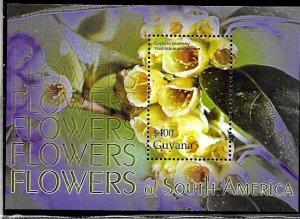 #1959 Guyana 2005 FLORA FLOWERS  SOUVENIR SHEET YV BL 477 MNH