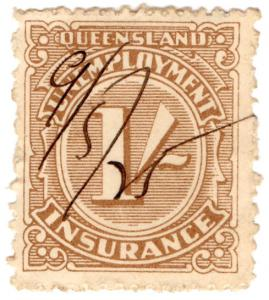 (I.B) Australia - Queensland Revenue : Unemployment Insurance 1/-