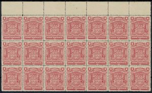 RHODESIA 1898 ARMS 1D BLOCK */**