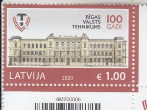 2020 Latvia Riga State Technical School   (Scott NA) MNH