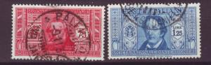 J13941 JLstamps 1932 italy used #274-5 famous people
