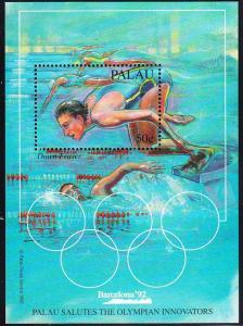 PALAU SHEET DAWN FRASER SWIMMING OLYMPIC GAMES BARCELONA 92