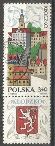 POLAND, 1969, used 3.40z, View of Klodzko,. Scott 1655