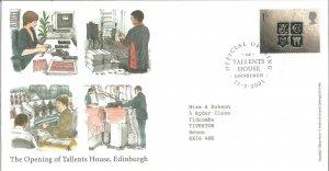 Opening Of Talents House, Edinburgh Royal Mail FDC 21 May 2001 Edinburgh Z9340