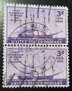 925 Savannah, Circulated pair, Vic's Stamp Stash