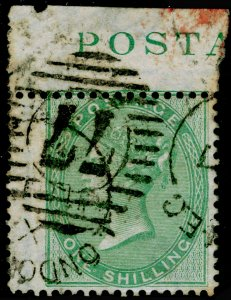 SG73, 1s pale green, FINE USED. Cat £350. MARGINAL PIECE.
