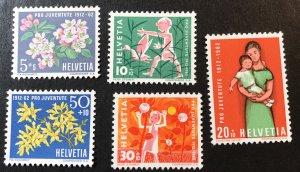 Switzerland B318-22 Flowers, children  MNH  SCV $3.60