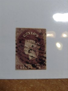Ceylon  # 6A  Used