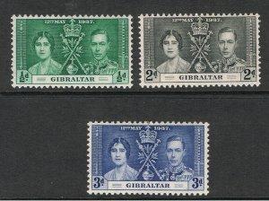 GIBRALTAR / GRENADA 1937 CORONATION