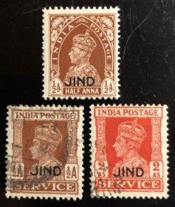 India Jind Scott#156 Unused F/VF LH, 166, 171 Used F/VF Cat. $3.25