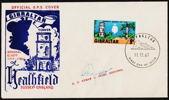 Gibraltar. FDC. 1967 9d S.G.220. On Cover. Fine Used