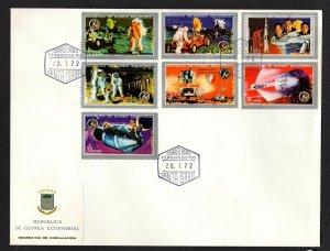 Equatorial Guinea  #7201-07  (1972 Apollo 15 set) VF used on FDC