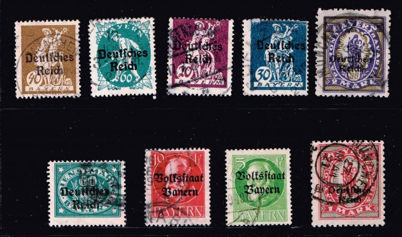 GERMANY STAMP BAVARIA BAYERN USED STAMPS LOT