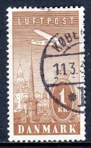 Denmark - Scott #C10 - Used - Hinge crease, pencil/rev. - SCV $26