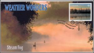 CA18-035, 2018, Weather Wonders, Pictorial, FDC, Steam Fog