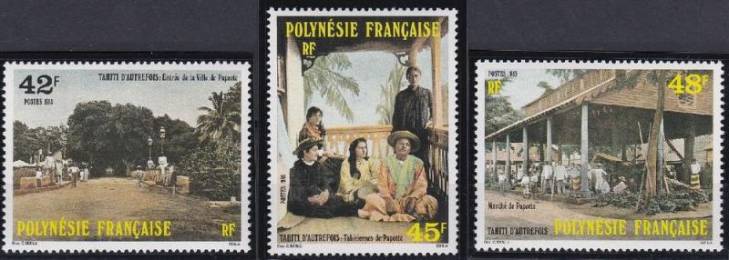 French Polynesia 414-416 MNH (1985)