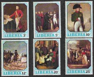Liberia #525-30 F-VF Mint NH ** Napoleon I