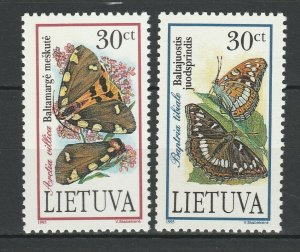 Lithuania 1995 Butterflies 2 MNH stamps