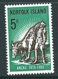 NORFOLK ISLAND SG58 1965 GALLIPOLI LANDINGS MNH