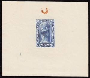 #PR31TC DIE ESSAY ON INDIA PAPER (BLUE) EXTREMELY RARE UNLISTED WL4404A GPC17D