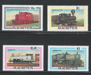 Mauritius 1979 Locomotives Scott # 476 - 479 MH